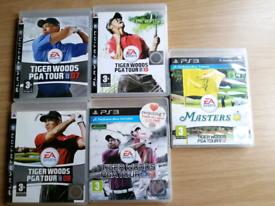 PS3 GAMES ~ 5 X Tiger Woods PGA