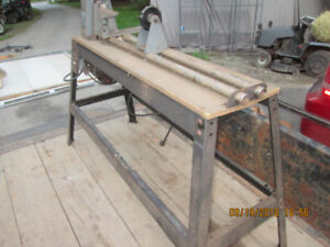 wood lathe and chisels