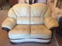 2 leather sofas (3 seat & 2 seat)