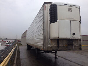 2008 Thermoking Reefer with 2001 Utility trailer