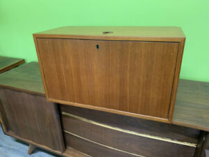 Mid Century Teak Bruskbo Wall Unit Box
