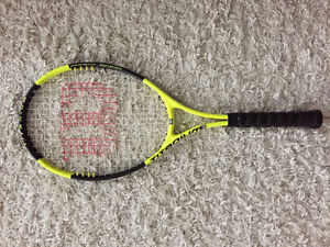 Barely used Wilson Titanium 3 Soft Shock Tennis Raquet