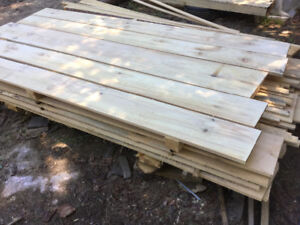 Pine boards for sheds and walls