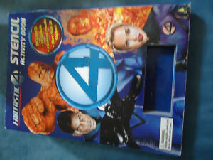Fantastic 4 Stencil Activity Book:  Board book 10 STENCILS
