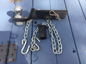 1 inch x 6-7//8 inch Hitch Pins and Chain 2 Tow Bar
