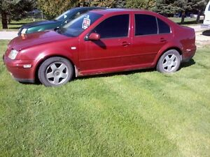 TWO 2000 Volkswagen Jetta,S gl Sedan FOR PARTS or DEMO