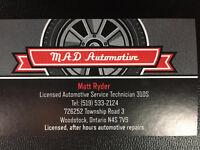 Licensed and Insured Automotive Repair