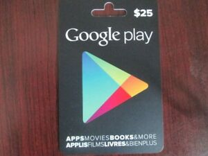 $25 Google Play card for $20