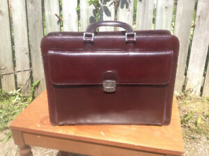 Mancini II leather laptop bag and briefcase