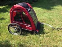 Bike trailer double seat great condition