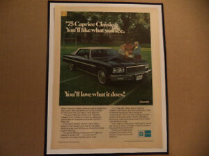 OLD CHEVY CLASSIC CAR FRAMED AD Windsor Region Ontario image 4
