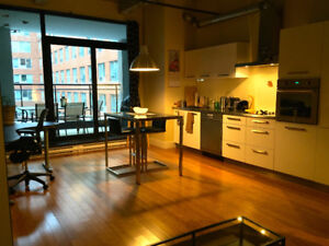 Furnished Downtown Montreal Loft