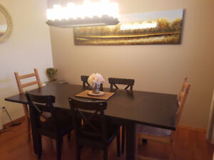 6-8 seat dining table