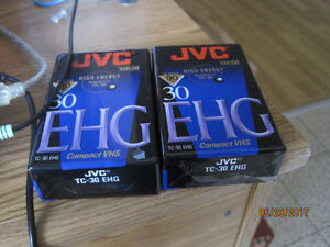 I have 2 new JVC EHG 30 minute tapes