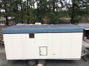 self-contained/winterized office trailer