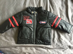 6m-12m leather Mickey Mouse jacket for boys