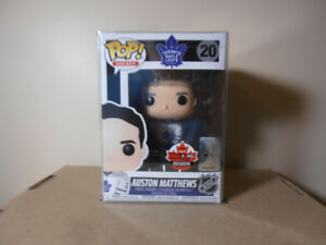 Funko Pop! Auston Matthews Fan Expo Exclusive with pop protector