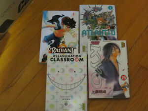 LOT 4 BD  MANGA -RADIANT-ATLANTID-KYO-ASSASSINATION CLASSROM