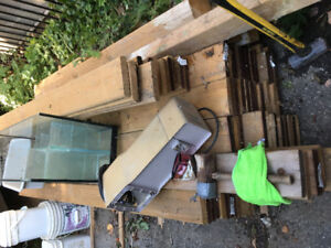 80 (1year old)PT deck board (approx 7.5 long) 5/4 width &posts
