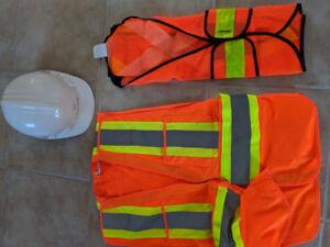 Casque de construction avec dossards de sécurité