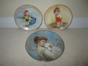 """Tender Caress"" ""Thank God for Fido"" ""Rainbows"" Collector Plates"