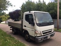 MITSUBISHI FUSO CANTER 2007 DROPSIDE LORRY CLEAN CAB AND BACK EXPORT 3 SEATER