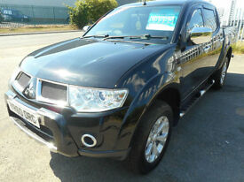 MITSUBISHI L200 BARBARIAN AUTO DIESEL 4X4 DOUBLE CAB LEATHER SAT NAV NO VAT...
