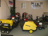 New and used Hot and Cold pressure washers