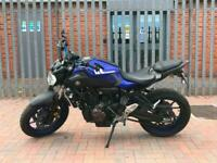 YAMAHA MT-07 ABS 2017 689cc Motorcycle LOW MILEAGE
