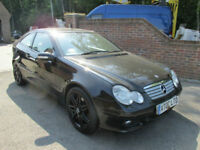 2007 (57) MERCEDES C350 COUPE AUTO + AMG SPORTS PACK + LEATHER & PAN ROOF