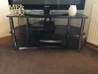 Modern Glass and Chrome TV Cabinet