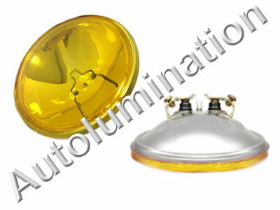 4416-A Amber 12 Volt Par36 Sealed Beam Bulb 4416ST-AMBER Spotlight 4-1/2 4416A Beam 12 Volt Spotlight