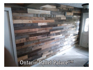 Pallet Bundles, reclaimed wood, DIY, accent pallet wall