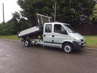 2009-09-Reg Vauxhall movano 2.5CDTI euro4 3.5ton crew cab tipper truck yes it's a tipper NO VAT