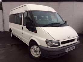 Ford Transit 2004 2.4 Diesel Manual 14 Seats 90 Bhp Minibus White
