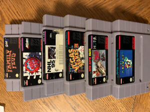 6 Super Nintendo Games For Sale Or Trades? $70 OBO