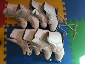 Girls figure skates  1, 2 , and 4