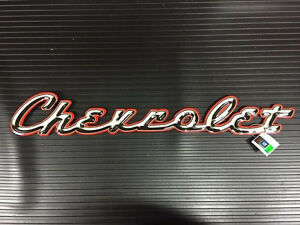 Chevrolet Sign Metal Embossed GM Man-Cave