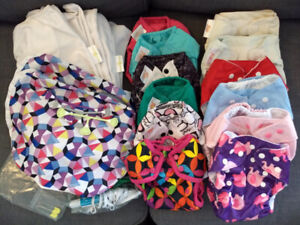 Cloth diaper covers, pail liners, wet bags & more