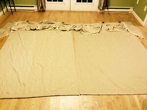 2 curtains 76 by 59 with valance-does not include curtain rod.