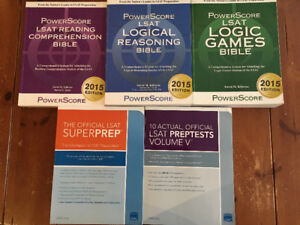 Powerscore LSAT books and practice test books for sale