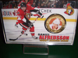 Daniel Alfredsson commemorative medallion