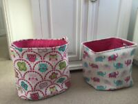 Two canvas toy/ laundry bags