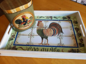Coq Au Vin Decorative Tray & Paper Machie Box