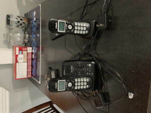 Two cordless home telephones
