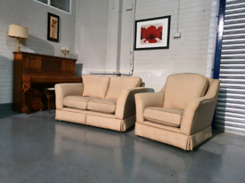 Cream fabric Kirkdale 2 seater Sofa only, No chair + free delivery