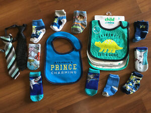 Bibs, ties, socks- All brand-new!!