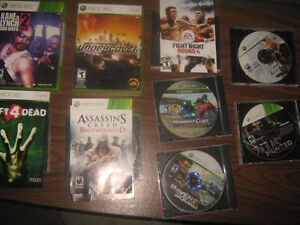 X box 360 games and CDs