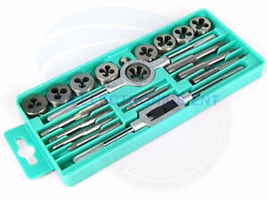 Pro 20 pcs Metric Tap And Die Wrench Set M3-M12 Hardened