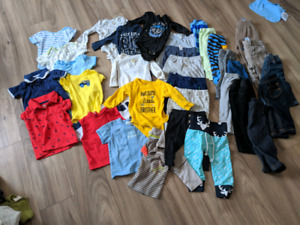 baby boys 3-9m lot, 60+ items, smoke and pet free, New to EUC